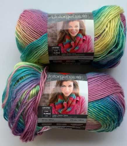 NEW (2) Red Heart Boutique Unforgettable Yarn, Candied