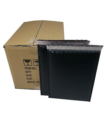 Pack 95pcs In Box 9 X 12 Inches Usable Large Black Poly Bubble Mailers Envelopes