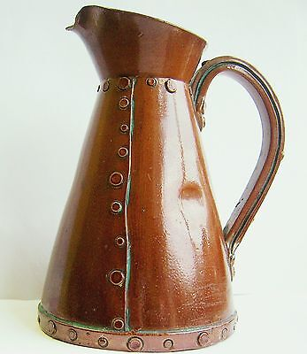 Arts & Crafts Royal Doulton Silicon Copper Ware Jug. Rare.