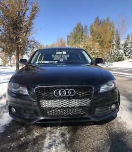 Black Audi A4 Premium S5 look and after market grill