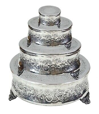 """Set of 4 Round Wedding Cake Stand  22"""" by 18"""" by 14"""" by 6-inch"""