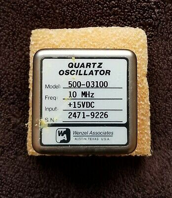 Wenzel Quartz 10 Mhz Oscillator 15v Supply