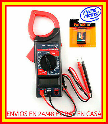PINZA Polimetro Multimetro Digital Voltimetro Profesional Tester Voltimeter Medi