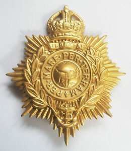 ROYAL-MARINES-KINGS-CROWN-BRASS-HELMET-PLATE