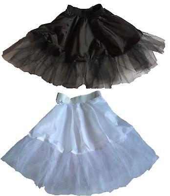 Petticoat für Tellerrock 36 38 40  weiß schwarz Unterrock für Kostüm Rock'n Roll