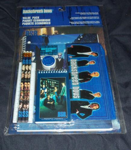 Backstreet Boys 2001 Value Pack -Notebooks Pencils Pouch Ruler Sharpener Folders