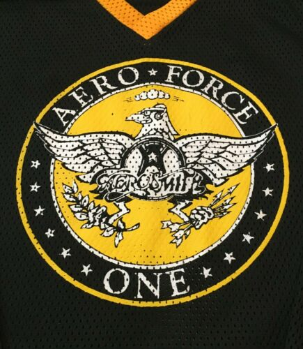 Aerosmith Aero Force One Hockey Jersey Large Classic Rock 1993 Tyler Perry
