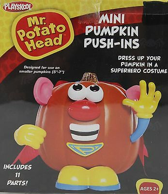 Halloween Mr Potato Head Mini Pumpkin Push In Superhero Costume 11 Parts NIB