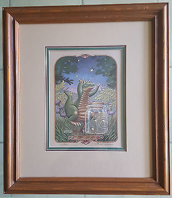 "Randal Spangler ""Fetching Fireflys"" Vintage Print-Signed-Numbered With COA-1990"
