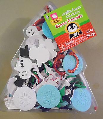 Nice Box of Christmas Foam Craft Pieces (X-35)