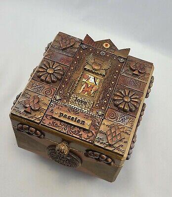 Handmade Jewelry Box. Mixed Media Mosaic