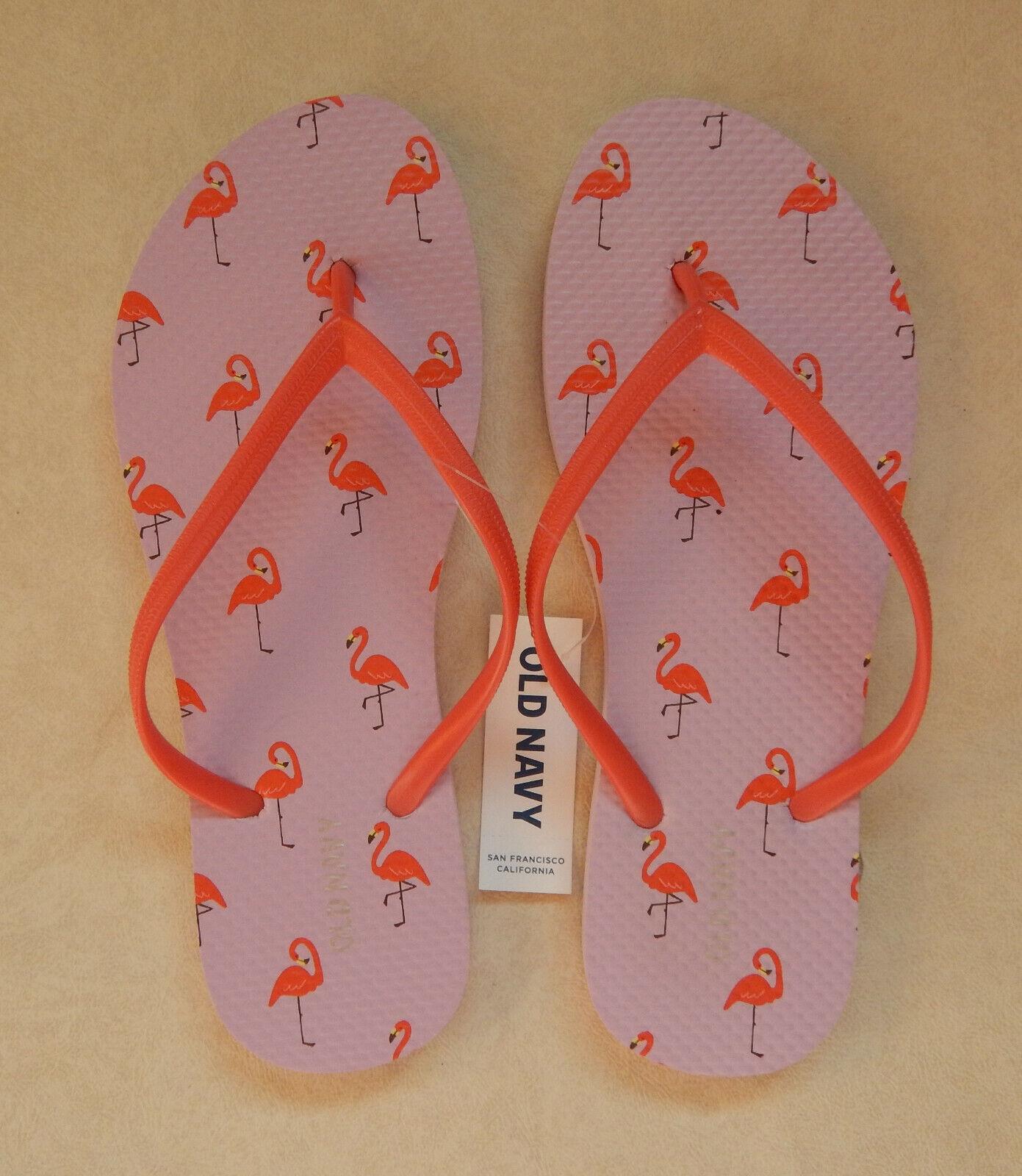 NEW Old Navy Womens Flamingo Pink Thong Flip Flops Sandals 7