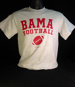 university of alabama gray bama football t shirts