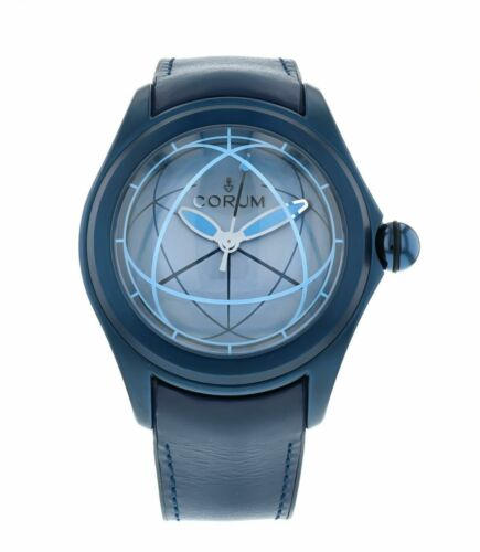 Corum Bubble SPHERE 2 Men's 47mm Blue Automatic Watch 082.312.98/0063 OP02 R - watch picture 1