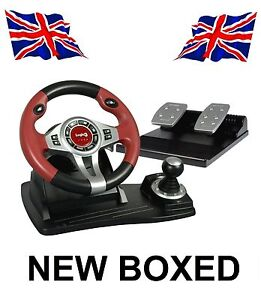 Logic3-Steering-Wheel-Pedals-PS3-PS2-PC-BOXED-NEW