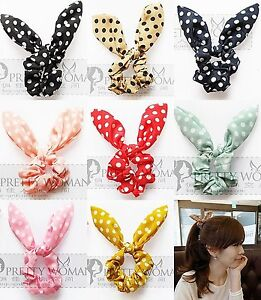 Hot-Rabbit-Ear-Hair-Tie-Bands-Accessories-Japan-Korean-Style-Ponytail-Holder