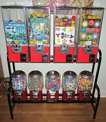 9 Toy Capsule Bulk Vending Machine With Rack Keys Inventory