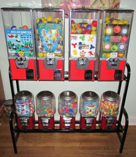 9 Toy Capsule Bulk Vending Machine With Rack, Keys & Inventory