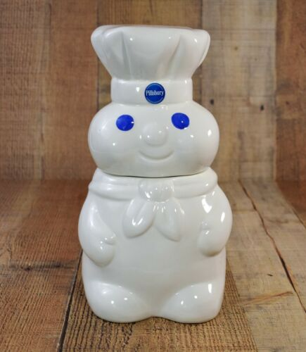 "Pillsbury Doughboy Cookie Jar 2002 Benjamin & Medwin 10"" High Good Condition"