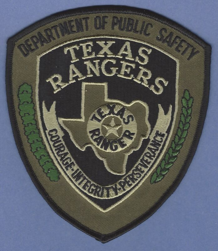 TEXAS RANGERS PUBLIC SAFETY SHOULDER PATCH TACTICAL GREEN