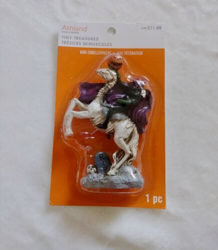 NEW Headless Horseman-Sleepy Hollow Mini Statue Halloween VILLAGE Decor