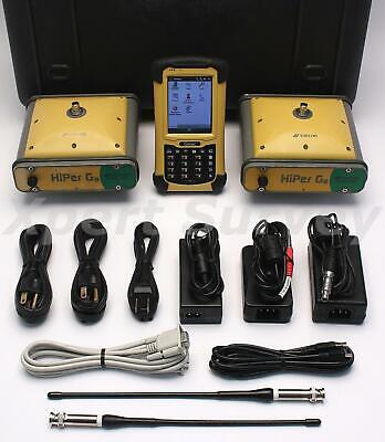 Topcon Hiper Ga GPS L1 L2 RTK 410 - 470 MHz UHF Base & Rover Receiver Set