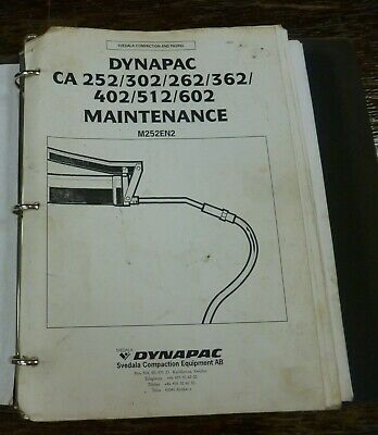 Dynapac Ca362 Ca402 Vibratory Smooth Drum Roller Shop Service Maintenance Manual