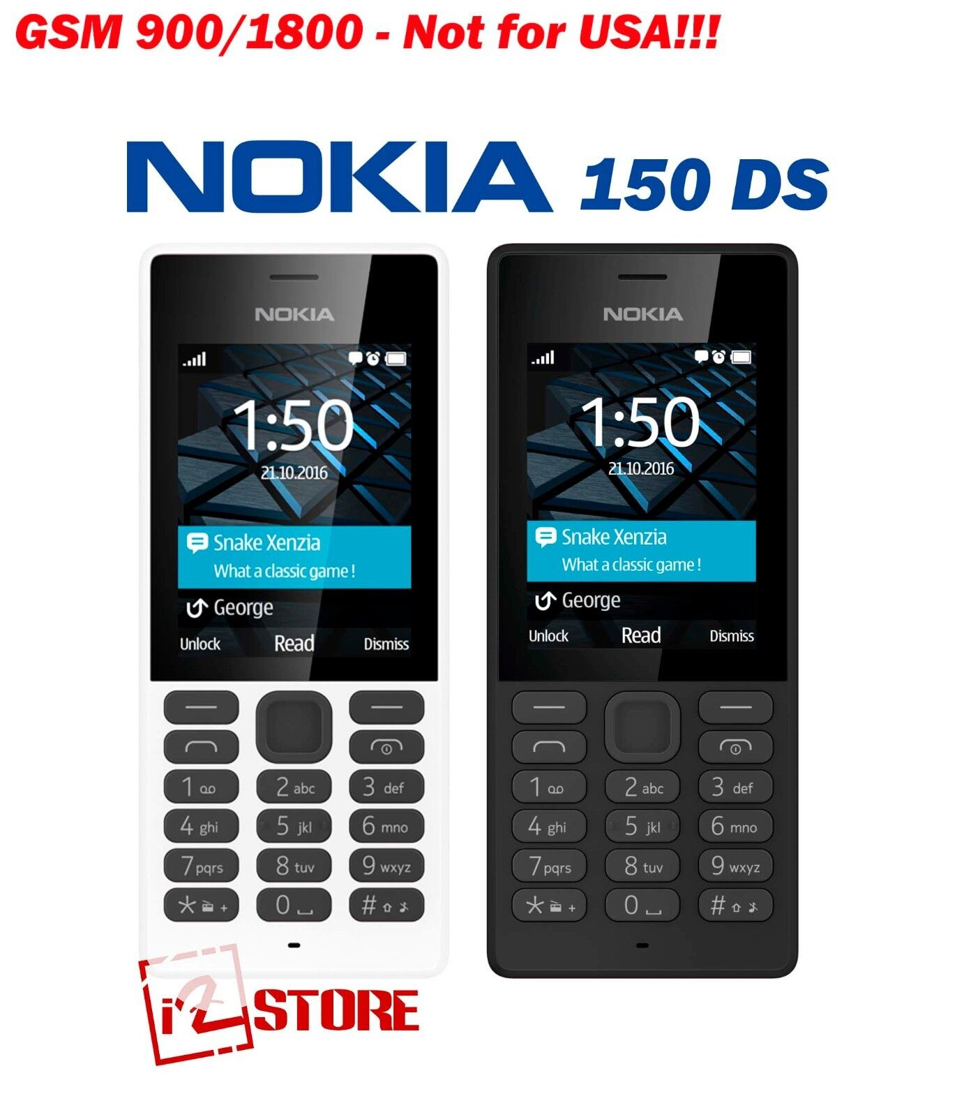bf335b303aa037 Details about Nokia 150 Dual SIM Unlocked camera with flash lifeup to 25 days  Cell Phone