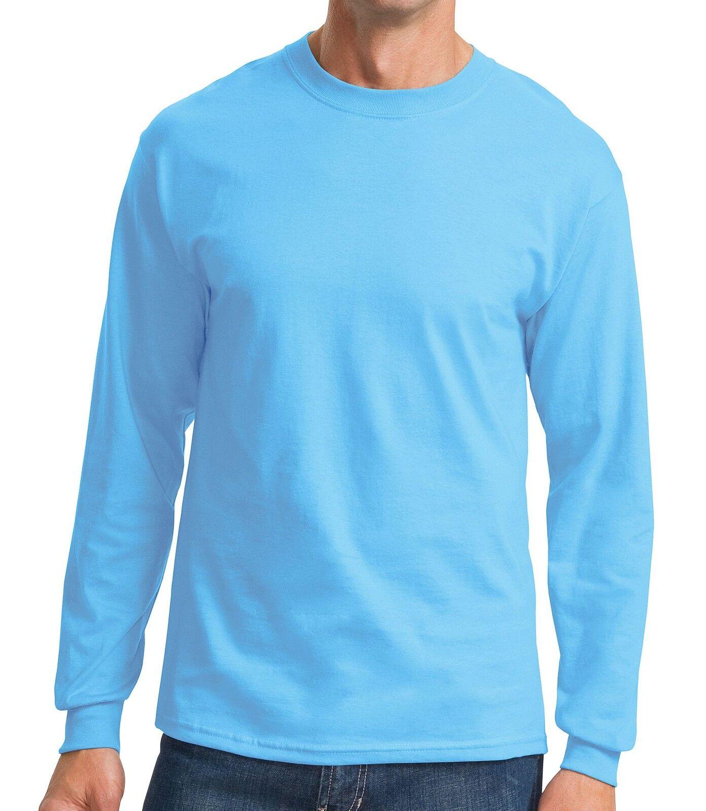 Men 39 s tall crewneck t shirt preshrunk 100 cotton long for Mens xlt t shirts