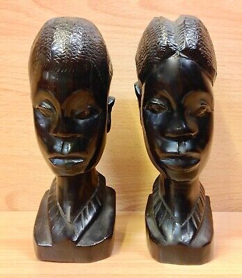 South African Native Hardwood Carvings Male & Female Figures 8