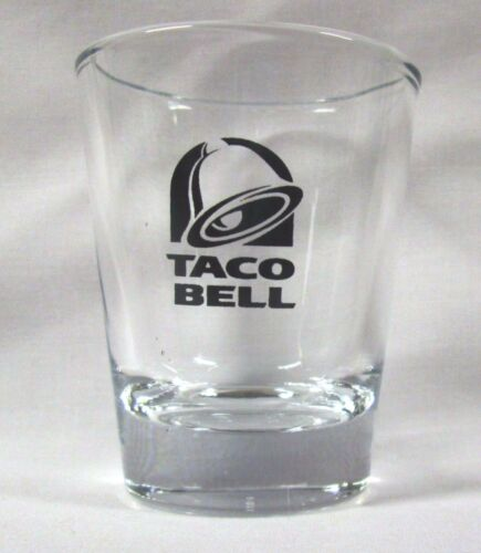Taco Bell Logo on Clear Shot Glass