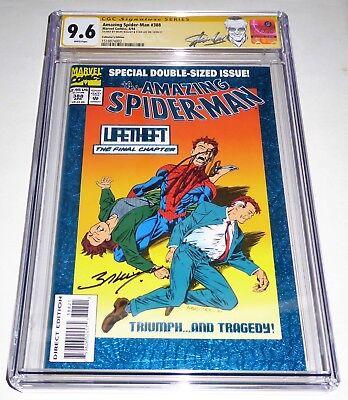 Amazing Spider-Man #388 Collector's Edition  CGC 2x SS Signature STAN LEE Venom