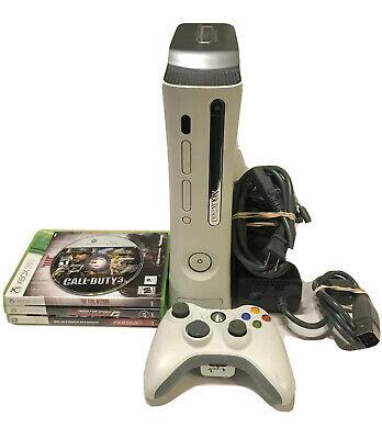 Microsoft Xbox 360 20GB Console Bundle With Controller, Cables, & 4 Games