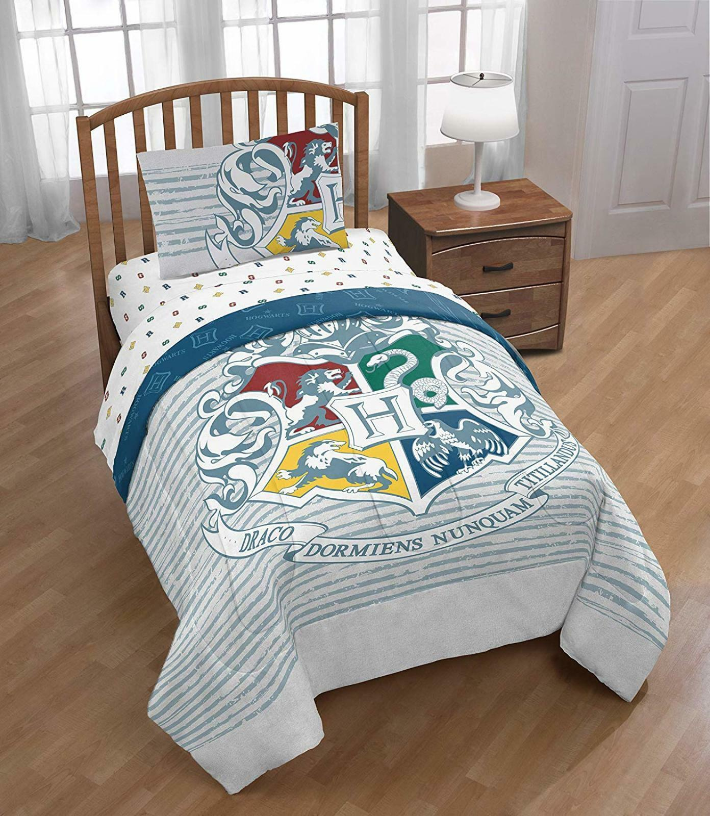 Harry Potter Wizardry Hogwarts Logo Comforter Sheets