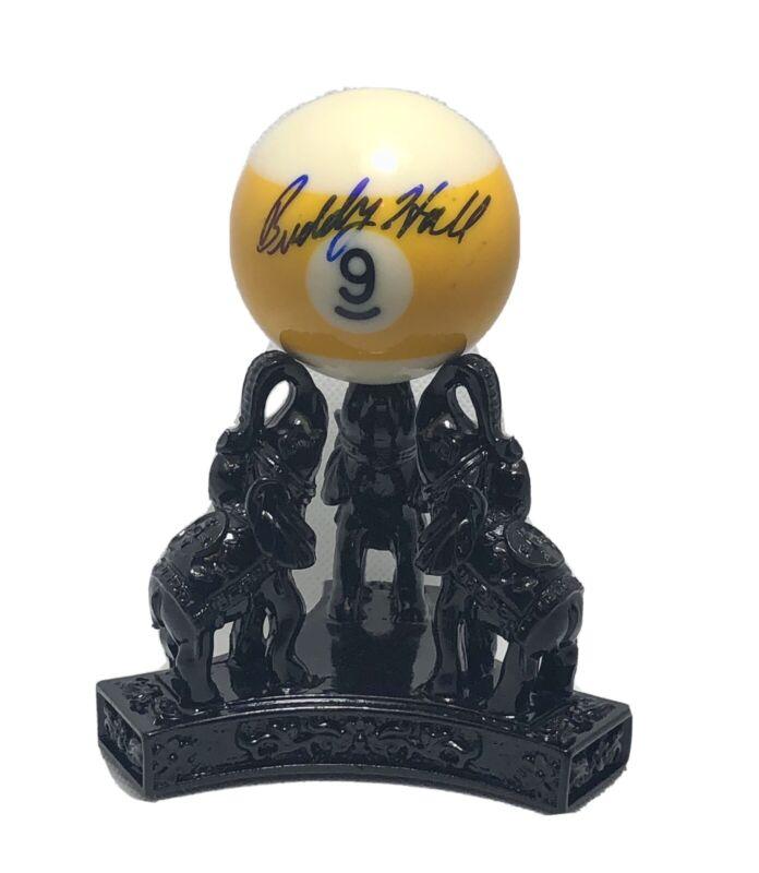 Buddy Hall Autographed Signed 8-Ball Pool BCA Hall Of Famer Billiard