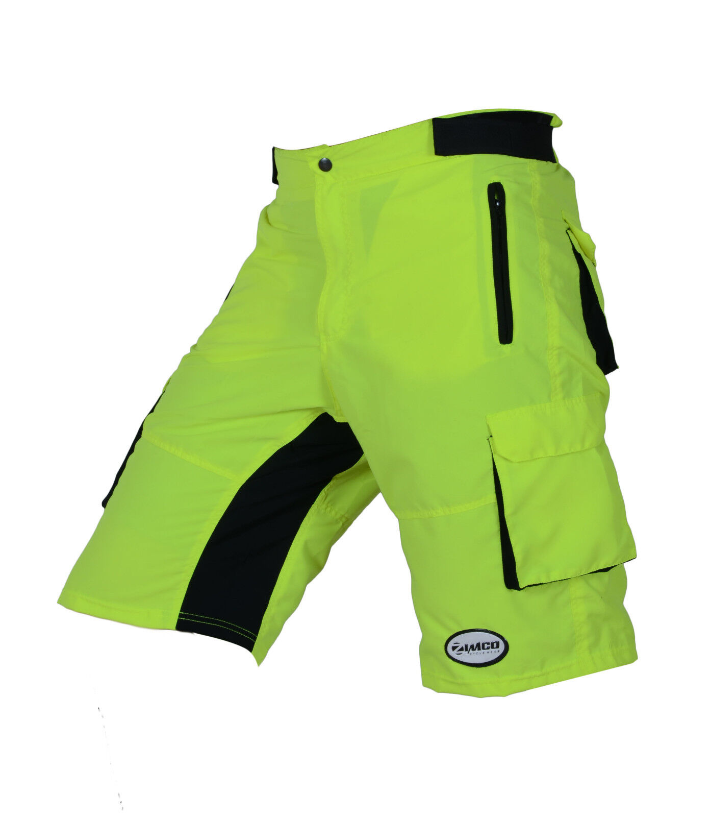 Details about Zimco Pro Comfort MTB Mountain Bike Baggy Shorts with Lycra  CoolMax Padded HiViz d8aa8d453