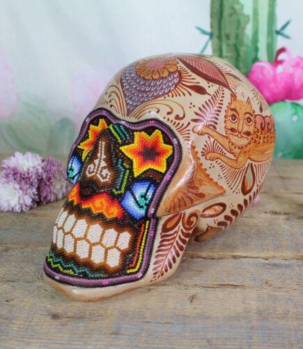 Skull Naguals Huichol Beadwork Canelo Pottery Pajarito Tonala Mexican Folk Art