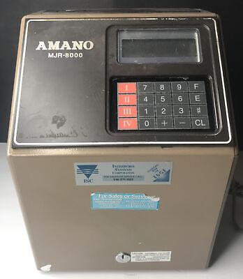 Amano Mjr-8000 Computerized Employee Time Clock