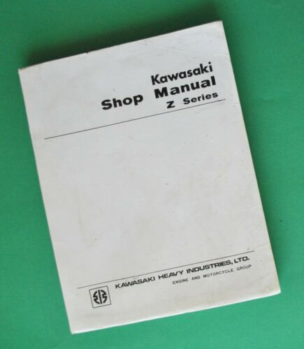 Original 1973-74 Kawasaki Z1 Z1A 900cc Motorcycle Service Shop Manual Book