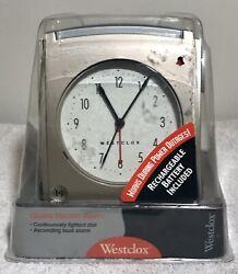 WESTCLOX #43506 Vintage Quartz Electric Alarm Clock Bronze New Old Stock