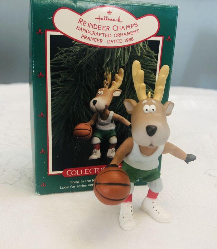 Vintage Hallmark Keepsake 1988 Reindeer Champs Prancer Collector