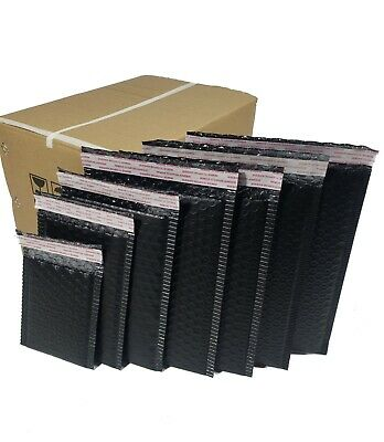 Black Sturdy Poly Plastic Bubble Mailers Envelopes Size 3x56x99x12more