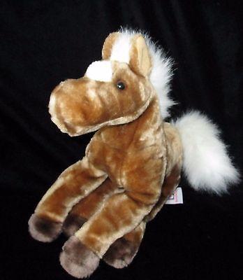 Manhattan Toy Horse Brown White Plush Soft Toy Stuffed 13