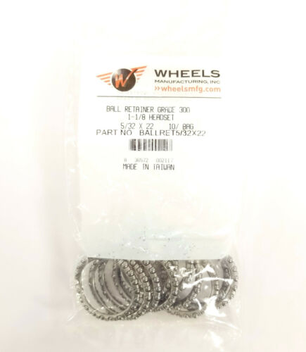 "Wheels Manufacturing 5/32"" x 22 Headset Bearing Retainer Bag of 10 1-1/8 Aheadse"