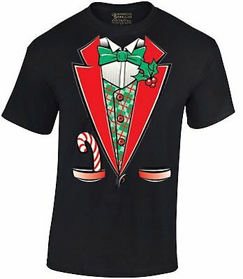 TUXEDO Xmas COSTUME T-SHIRT Merry Christmas Party Ugly Xmas Gift Men's Shirt (Costumes T Shirts)