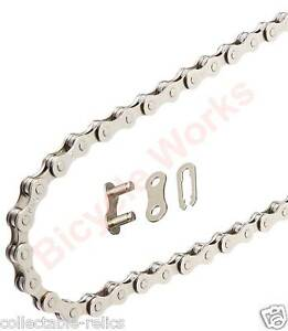KMC Chrome Chain 1/2 X 1/8 Old School BMX Fat Fixie Single Speed Bike Bicycle Z