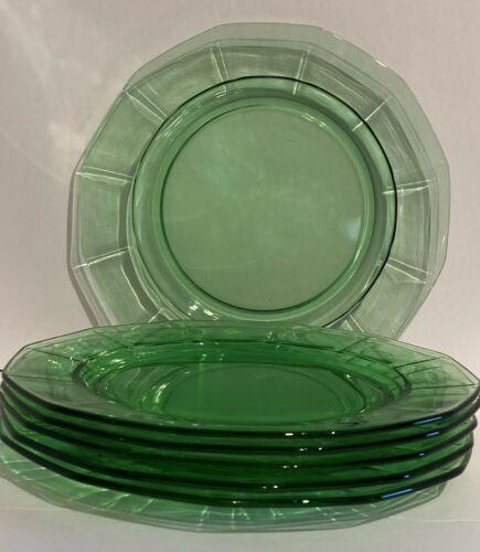 Vintage Large Dinner Plate Fairfax Green by FOSTORIA