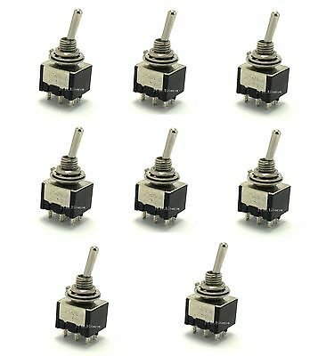 8 Dpdt Onon Miniature Toggle Switches Onmomentary On