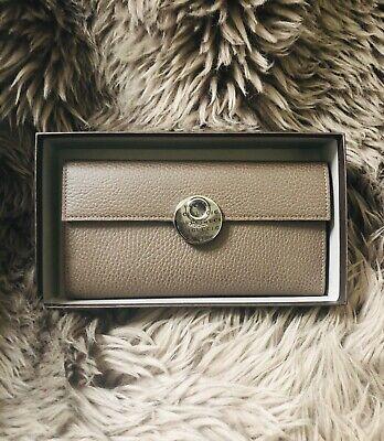 New Gucci 281835 Women's Leather Wallet Clutch Dark Grey/brown