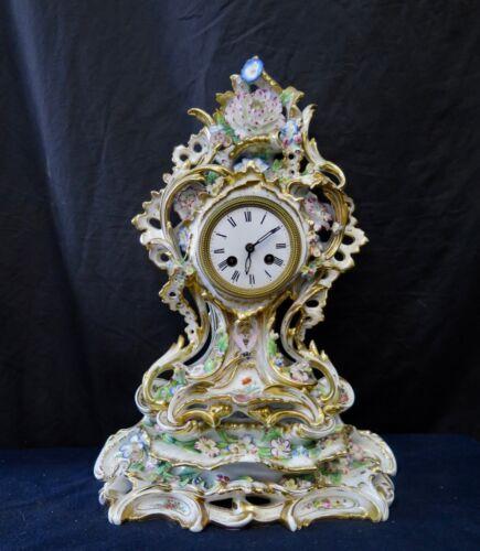 Aubert & Klaftenberger Porcelain Clock
